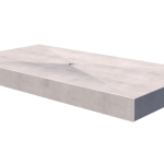 Precast concrete duckboards